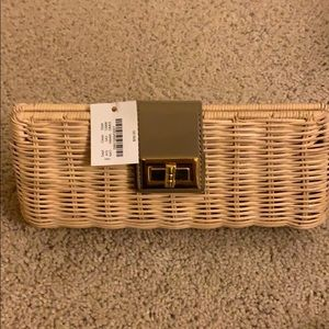 JCREW straw clutch